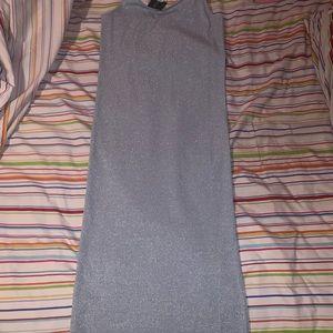 NWT TopShop Glitter Ribbed Sheath Dress